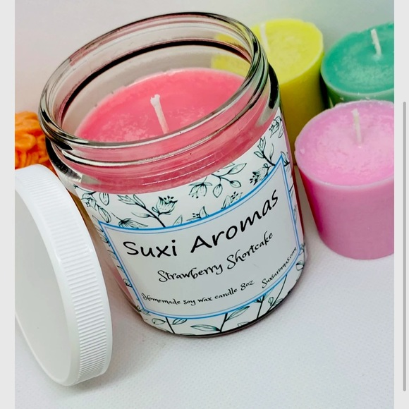 Handcrafted soy wax candle